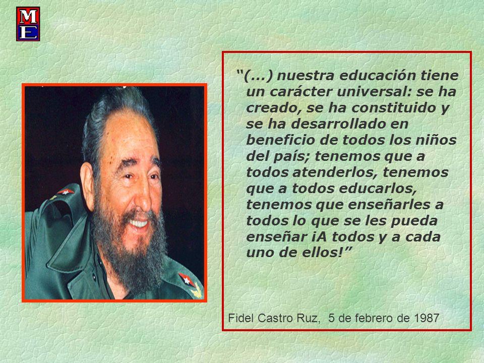 Fidel Castro Ruz, 5 de febrero de 1987