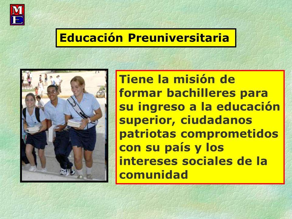Educación Preuniversitaria