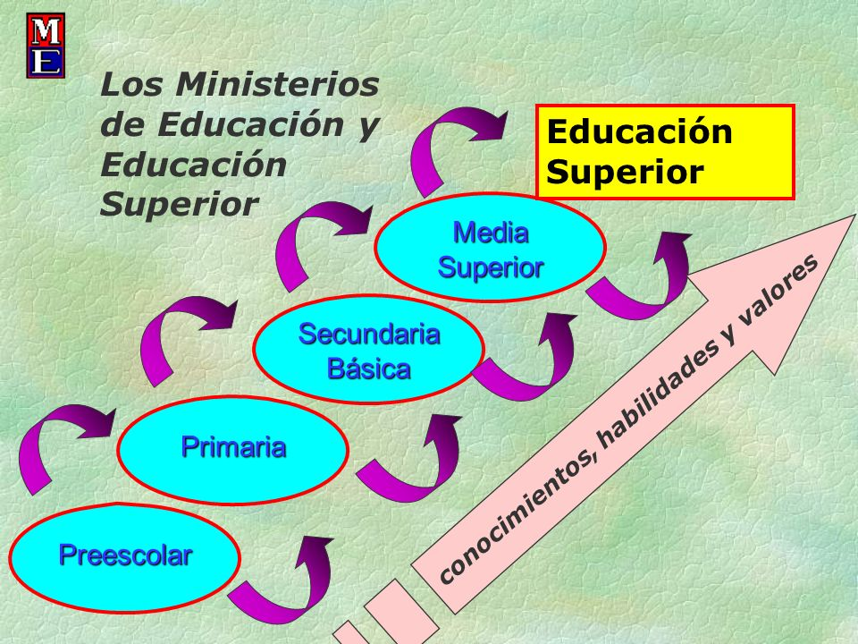 Los Ministerios de Educación y Educación Superior Educación Superior