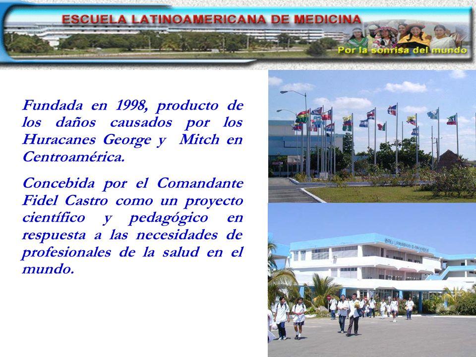 Fundada en 1998, producto de los daños causados por los Huracanes George y Mitch en Centroamérica.