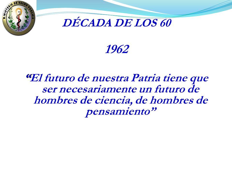 DÉCADA DE LOS 60 1962.