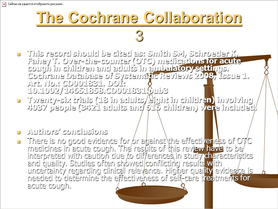 The Cochrane Collaboration 3