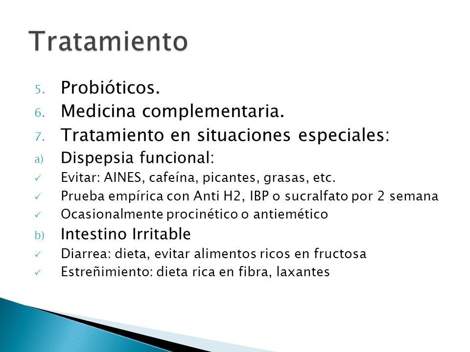 Tratamiento Probióticos. Medicina complementaria.