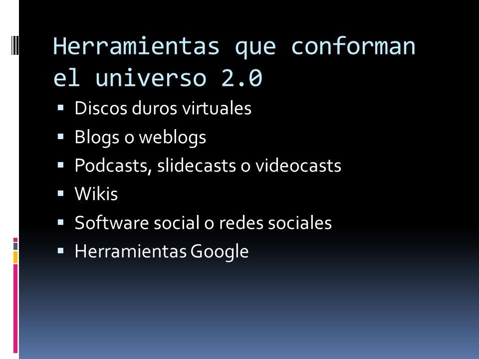 Herramientas que conforman el universo 2.0