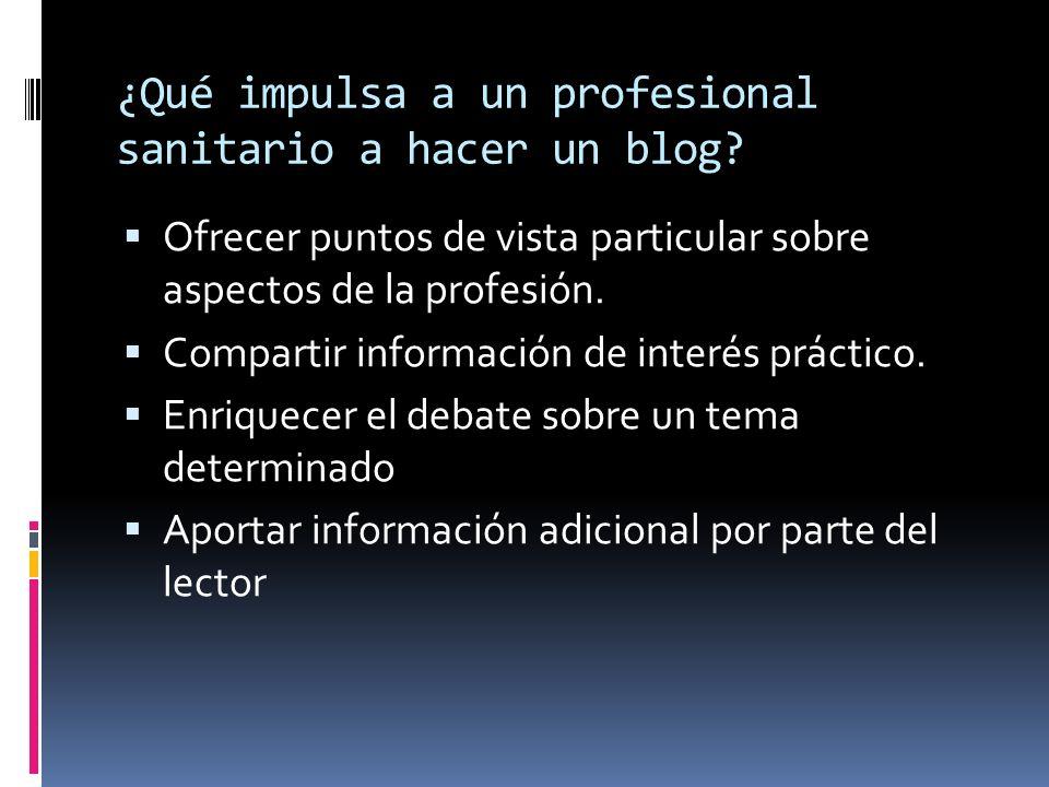 ¿Qué impulsa a un profesional sanitario a hacer un blog