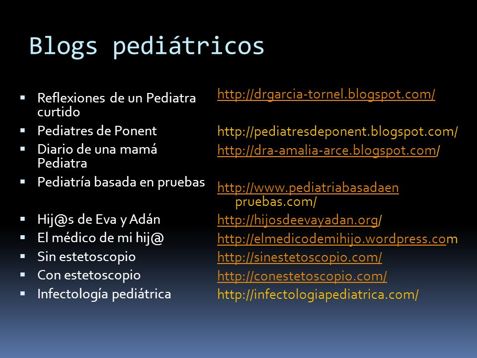 Blogs pediátricos