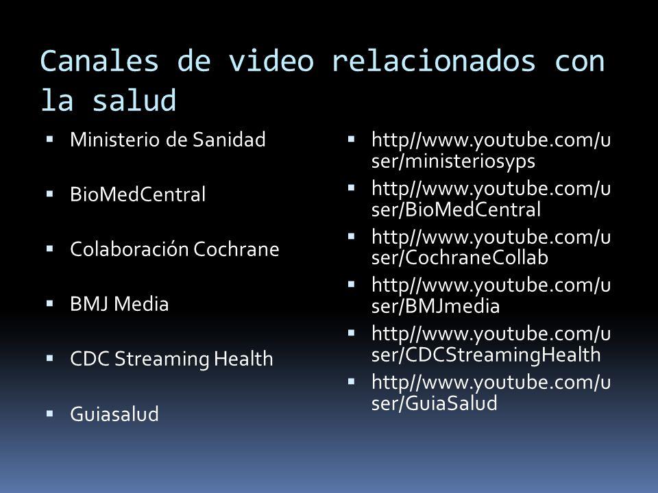 Canales de video relacionados con la salud