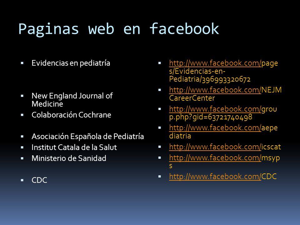 Paginas web en facebook