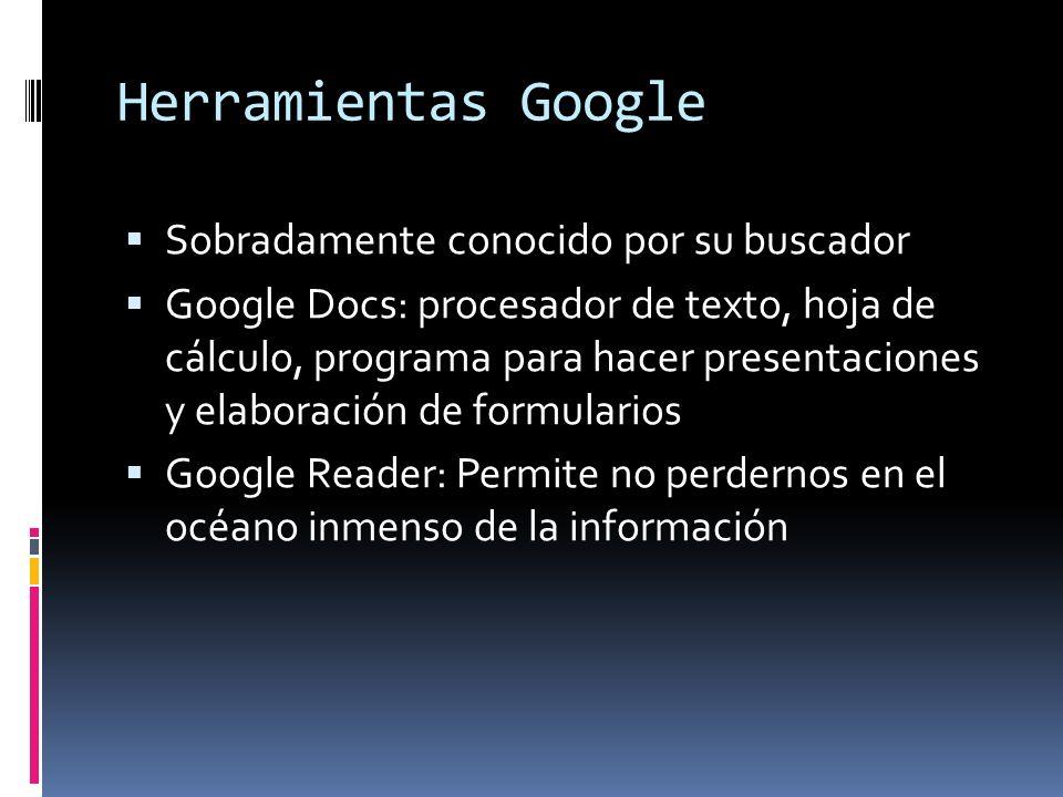 Herramientas Google Sobradamente conocido por su buscador