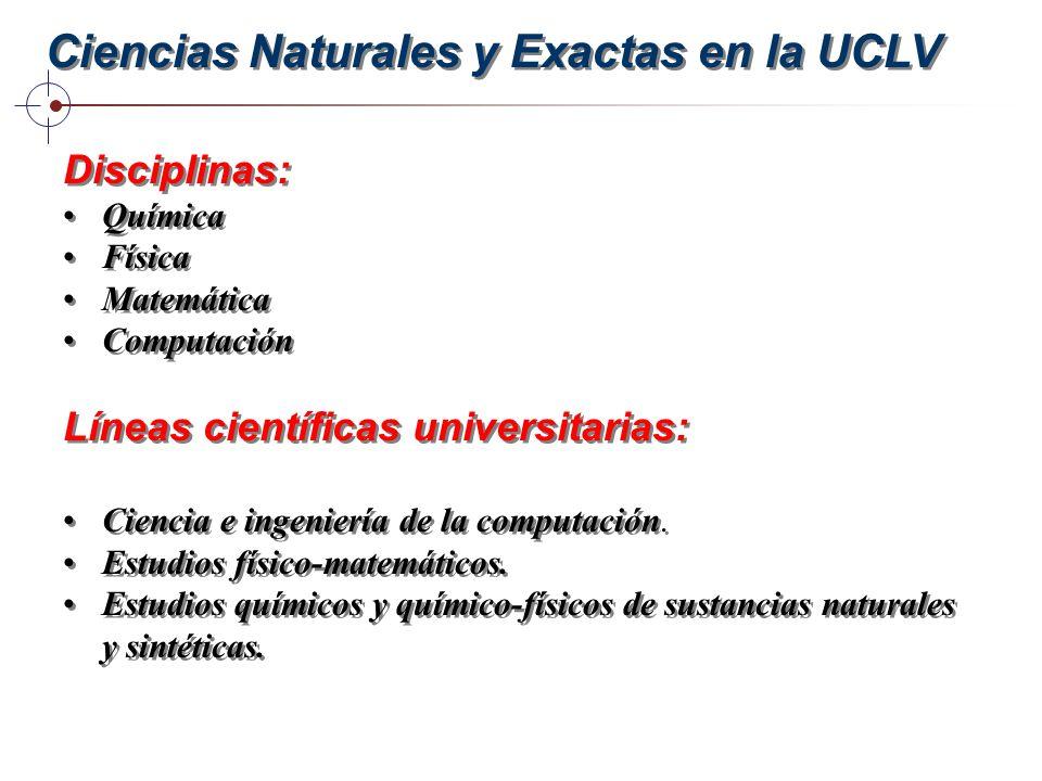 Ciencias Naturales y Exactas en la UCLV