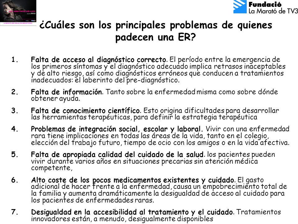 ¿Cuáles son los principales problemas de quienes padecen una ER