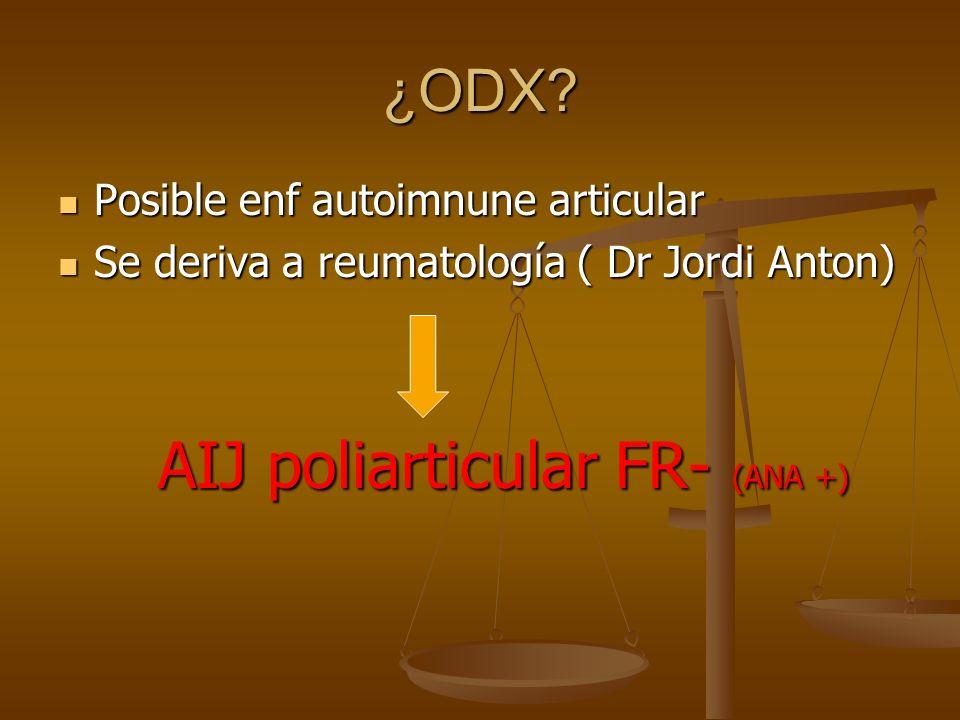 AIJ poliarticular FR- (ANA +)