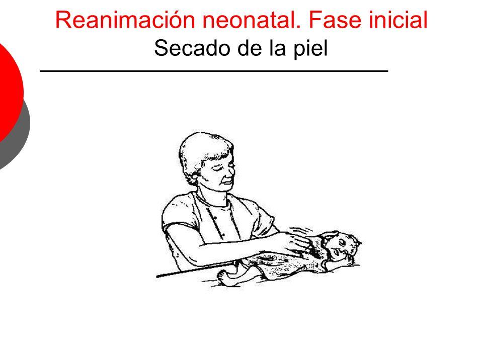 Reanimación neonatal. Fase inicial