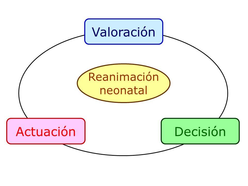 Valoración Actuación Decisión Reanimación neonatal