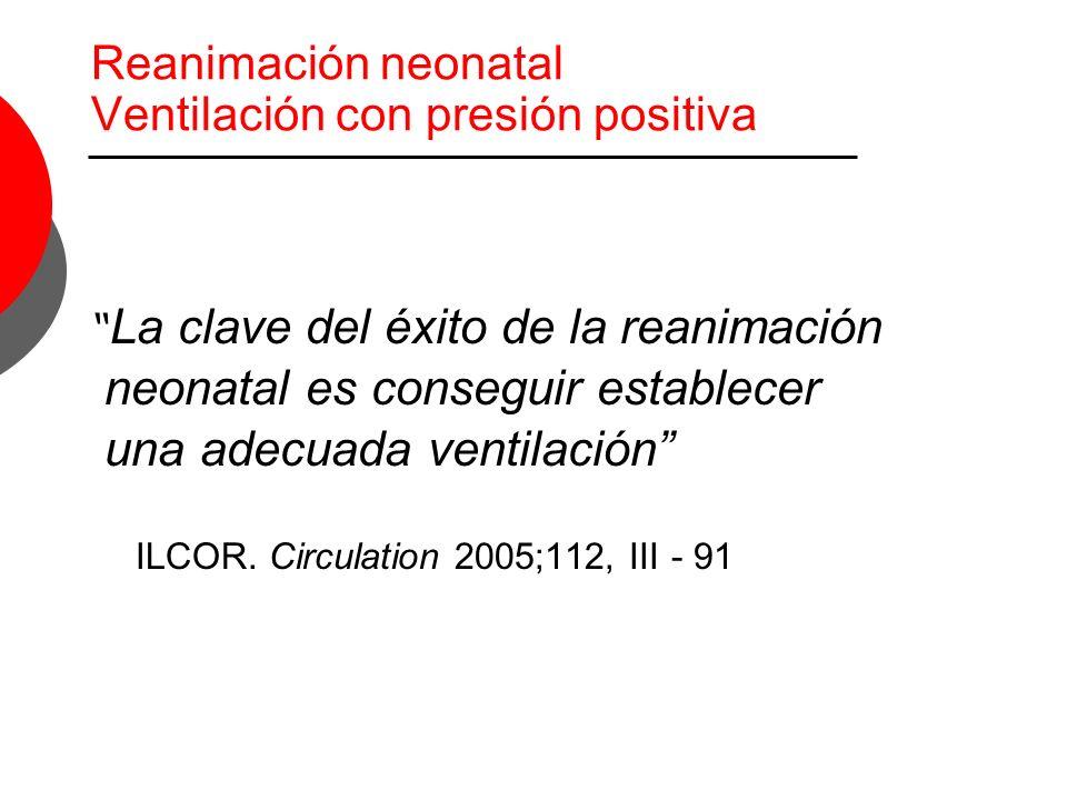 Reanimación neonatal Ventilación con presión positiva