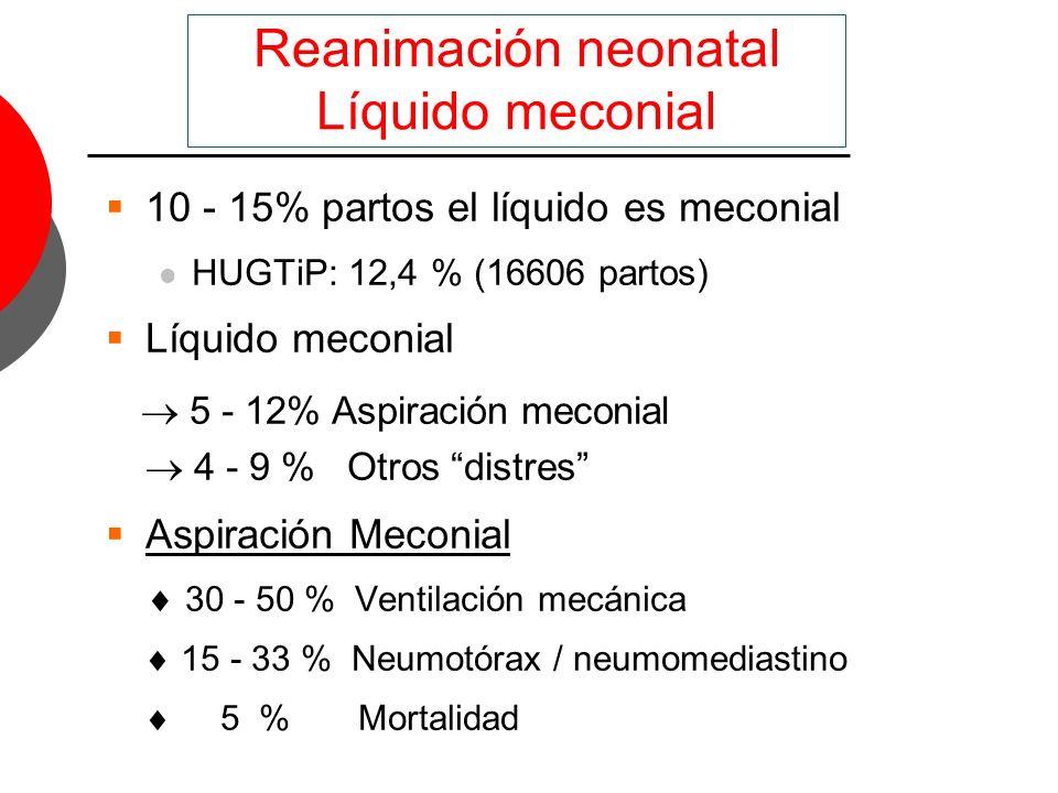 Reanimación neonatal Líquido meconial