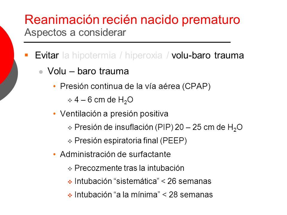 Reanimación recién nacido prematuro Aspectos a considerar