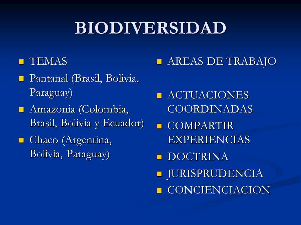 BIODIVERSIDAD TEMAS Pantanal (Brasil, Bolivia, Paraguay)