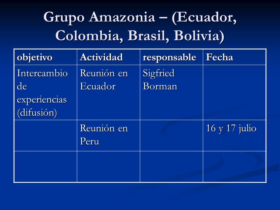 Grupo Amazonia – (Ecuador, Colombia, Brasil, Bolivia)