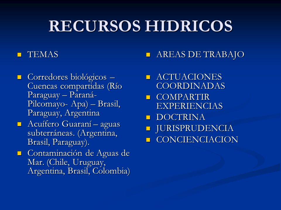 RECURSOS HIDRICOS TEMAS