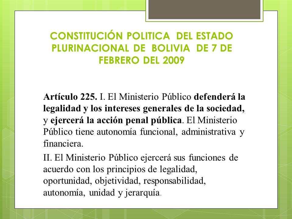 CONSTITUCIÓN POLITICA DEL ESTADO PLURINACIONAL DE BOLIVIA DE 7 DE FEBRERO DEL 2009