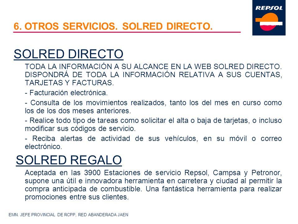 6. OTROS SERVICIOS. SOLRED DIRECTO.