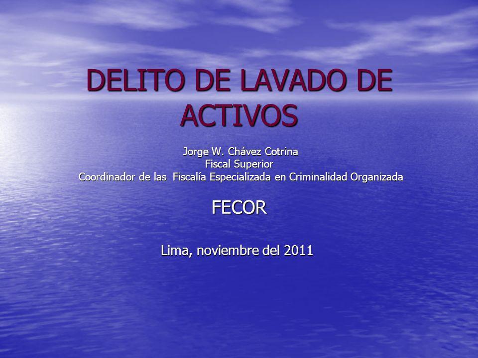 DELITO DE LAVADO DE ACTIVOS Jorge W