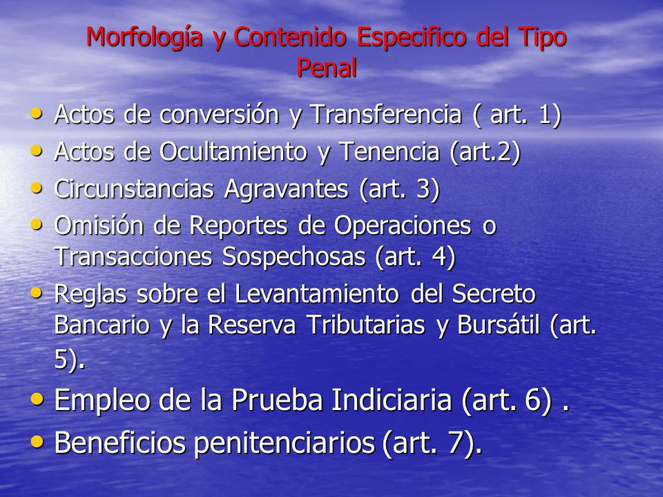 Morfología y Contenido Especifico del Tipo Penal