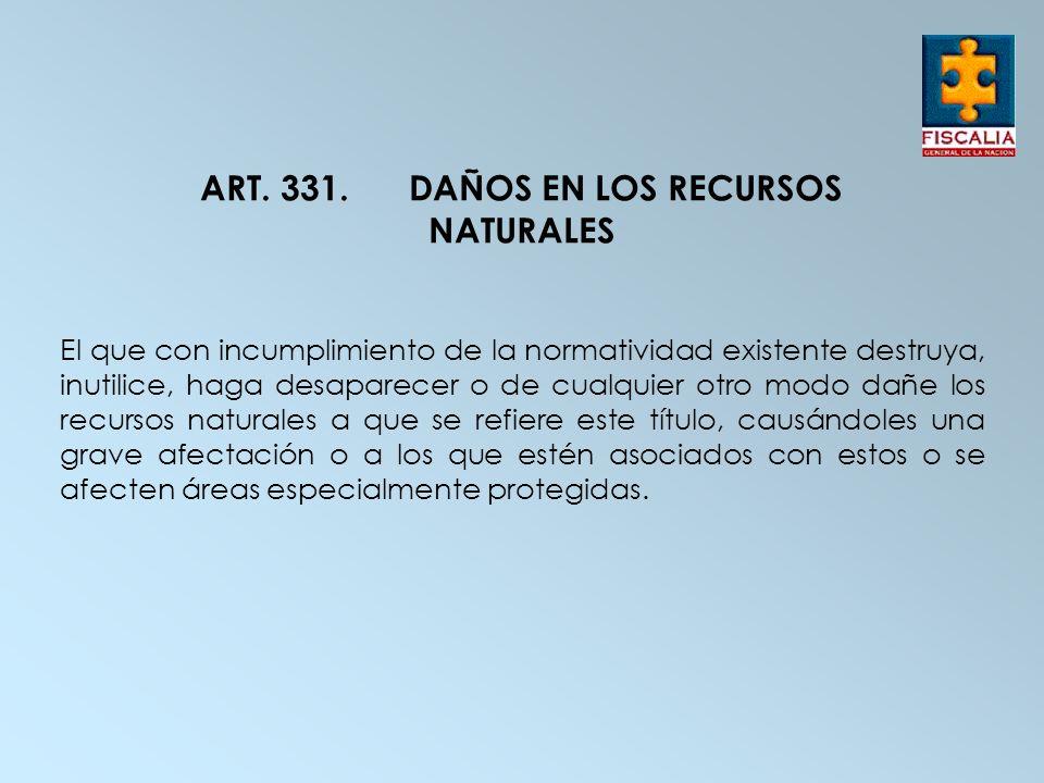ART. 331. DAÑOS EN LOS RECURSOS NATURALES