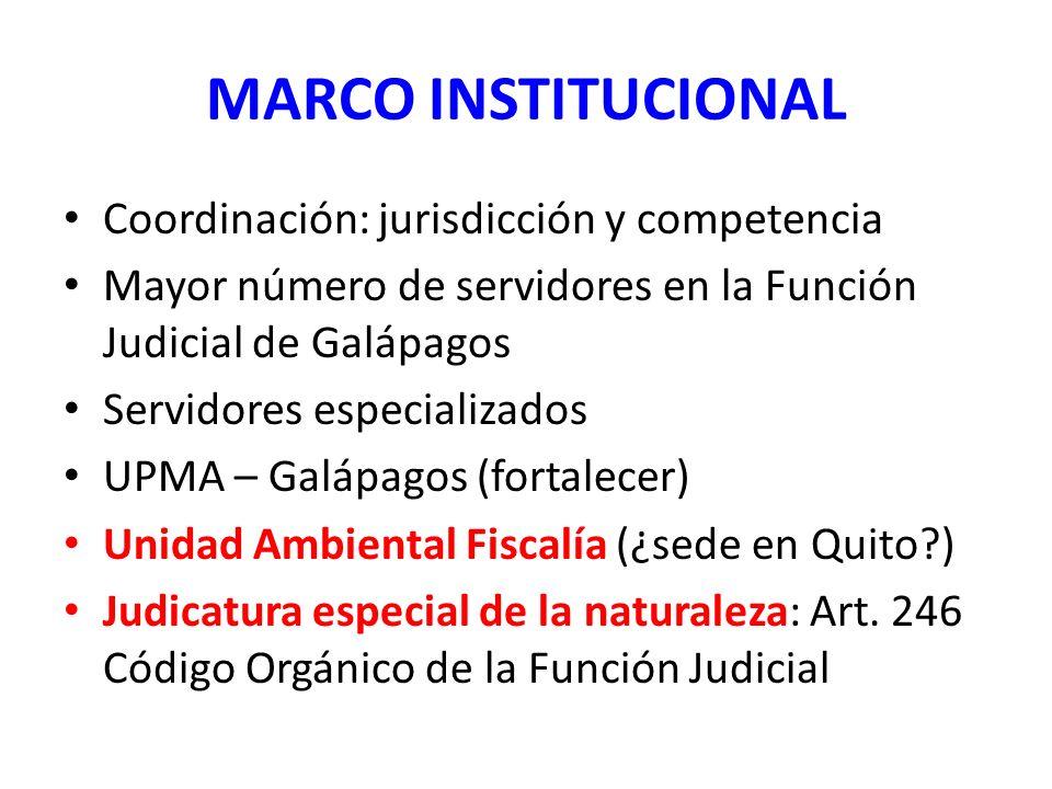 MARCO INSTITUCIONAL Coordinación: jurisdicción y competencia