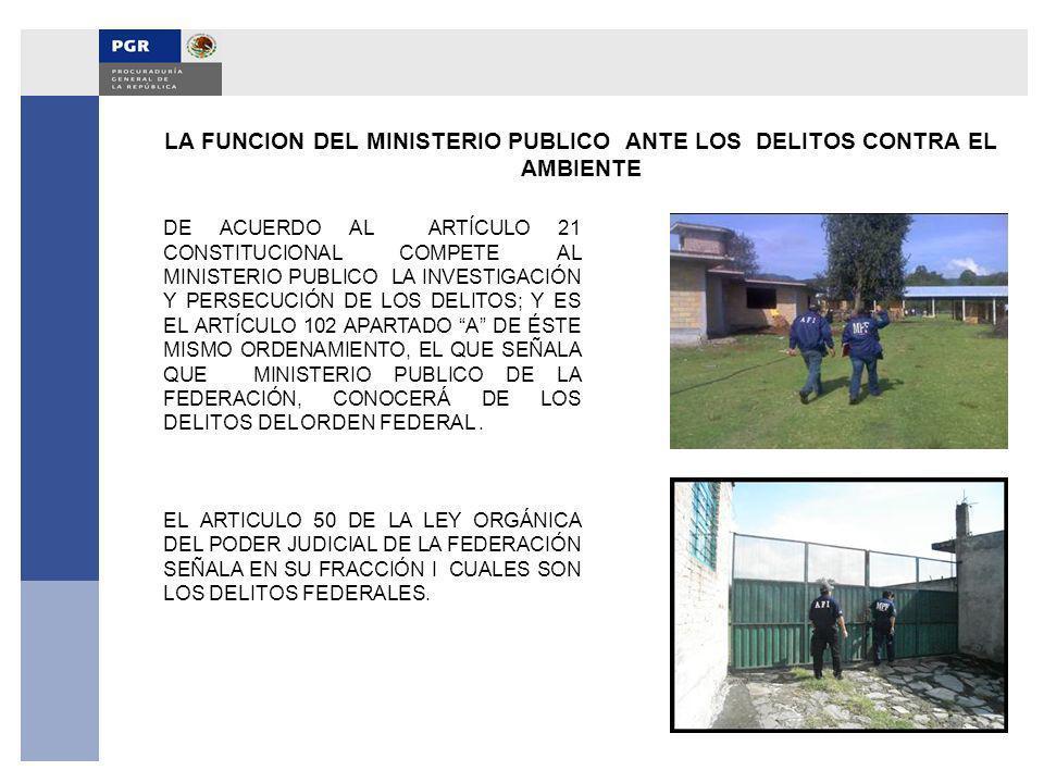 LA FUNCION DEL MINISTERIO PUBLICO ANTE LOS DELITOS CONTRA EL AMBIENTE