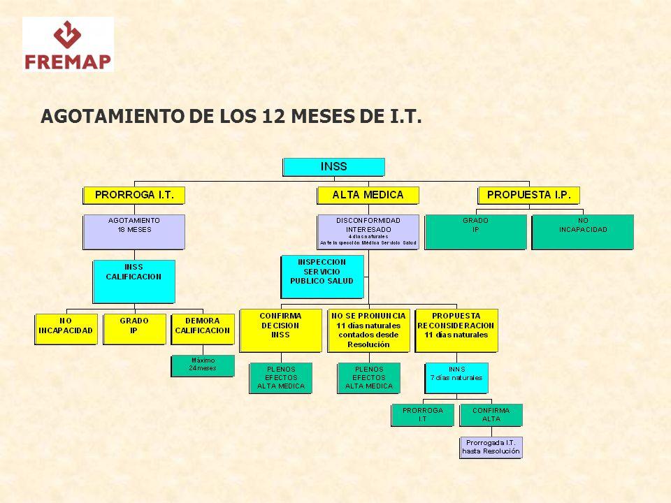 AGOTAMIENTO DE LOS 12 MESES DE I.T.