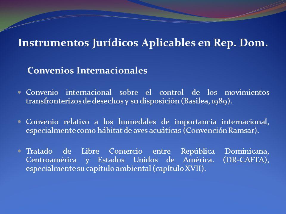 Instrumentos Jurídicos Aplicables en Rep. Dom.