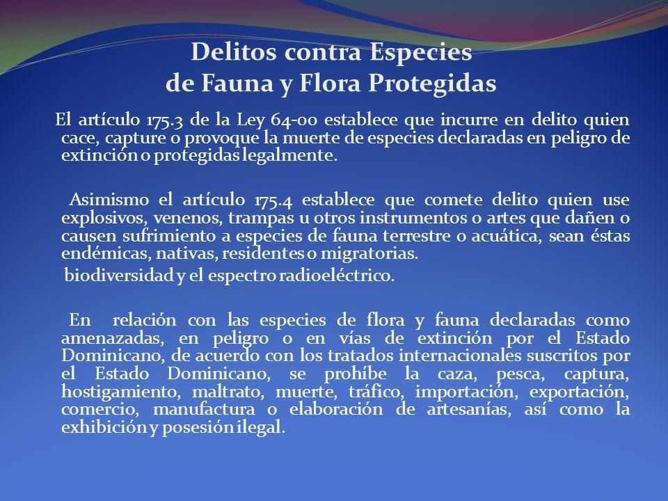 Delitos contra Especies de Fauna y Flora Protegidas