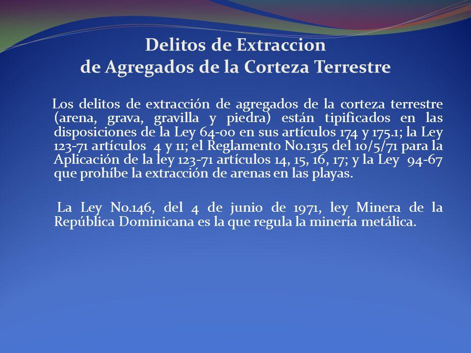 Delitos de Extraccion de Agregados de la Corteza Terrestre