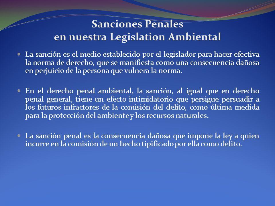 Sanciones Penales en nuestra Legislation Ambiental