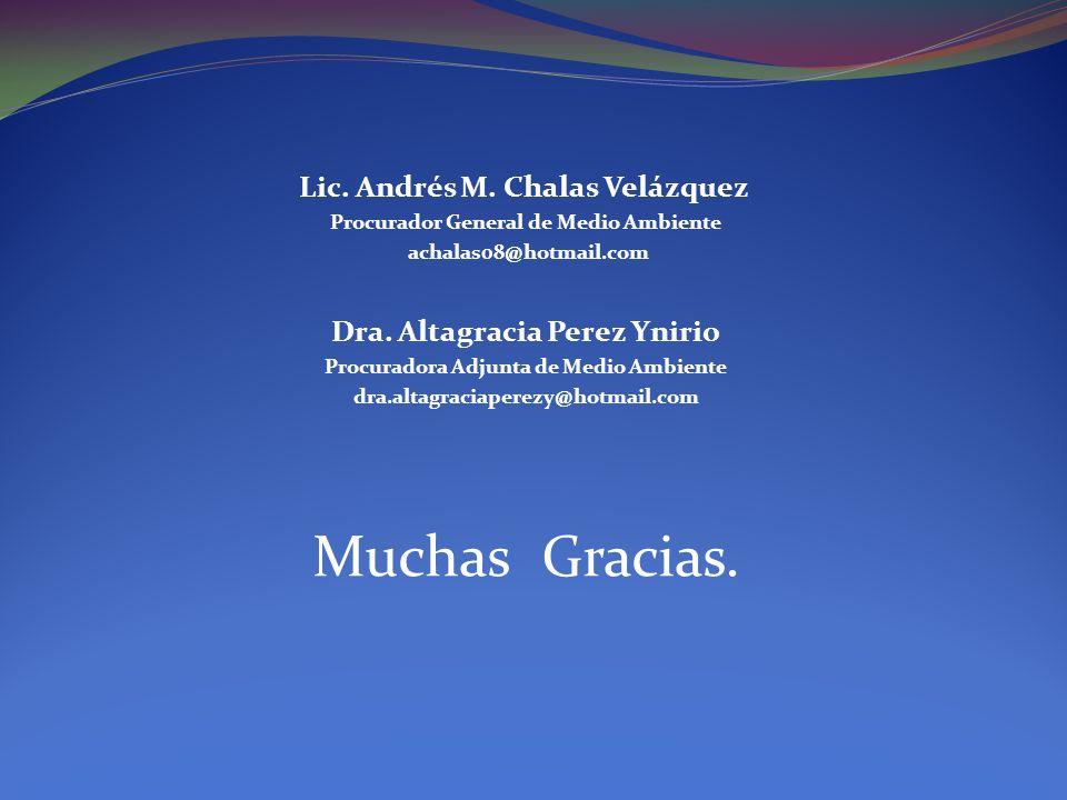 Muchas Gracias. Dra. Altagracia Perez Ynirio