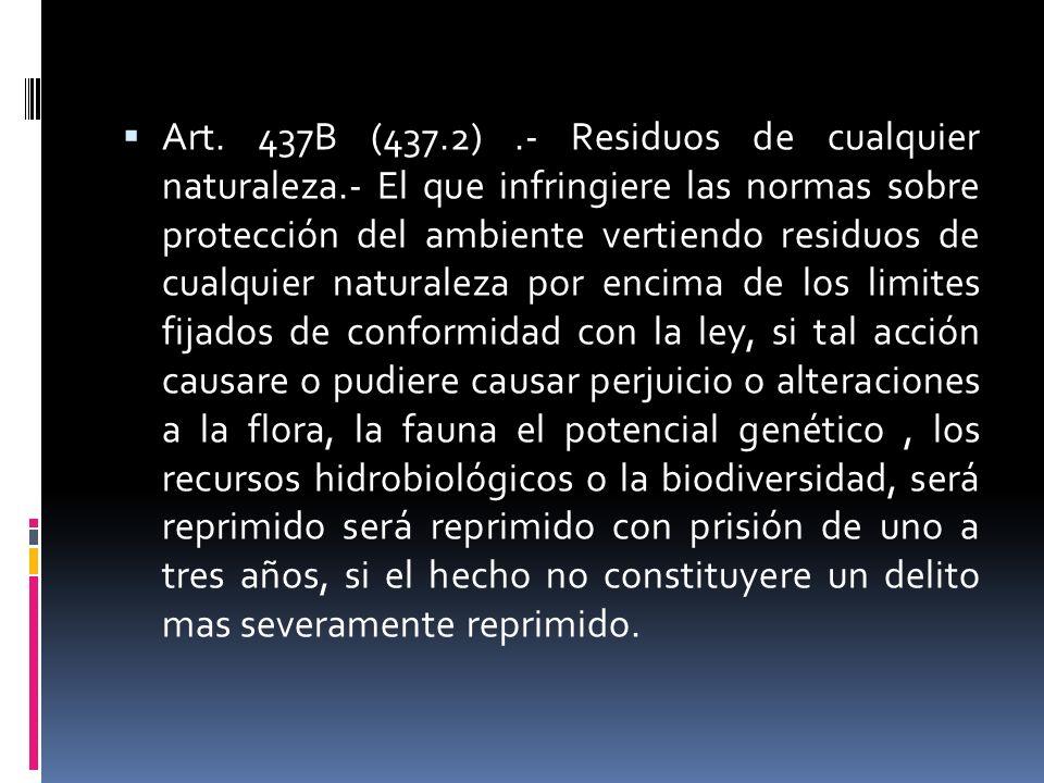 Art. 437B (437. 2). - Residuos de cualquier naturaleza