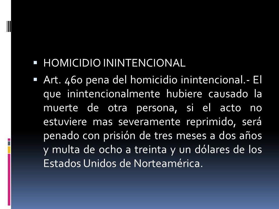 HOMICIDIO ININTENCIONAL