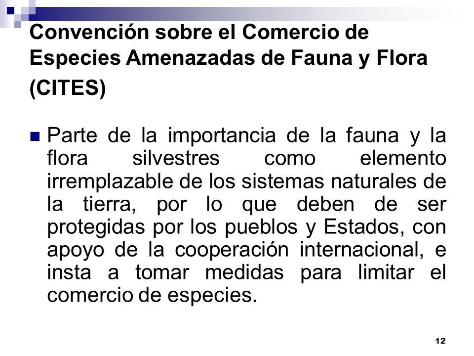 Convención sobre el Comercio de Especies Amenazadas de Fauna y Flora (CITES)