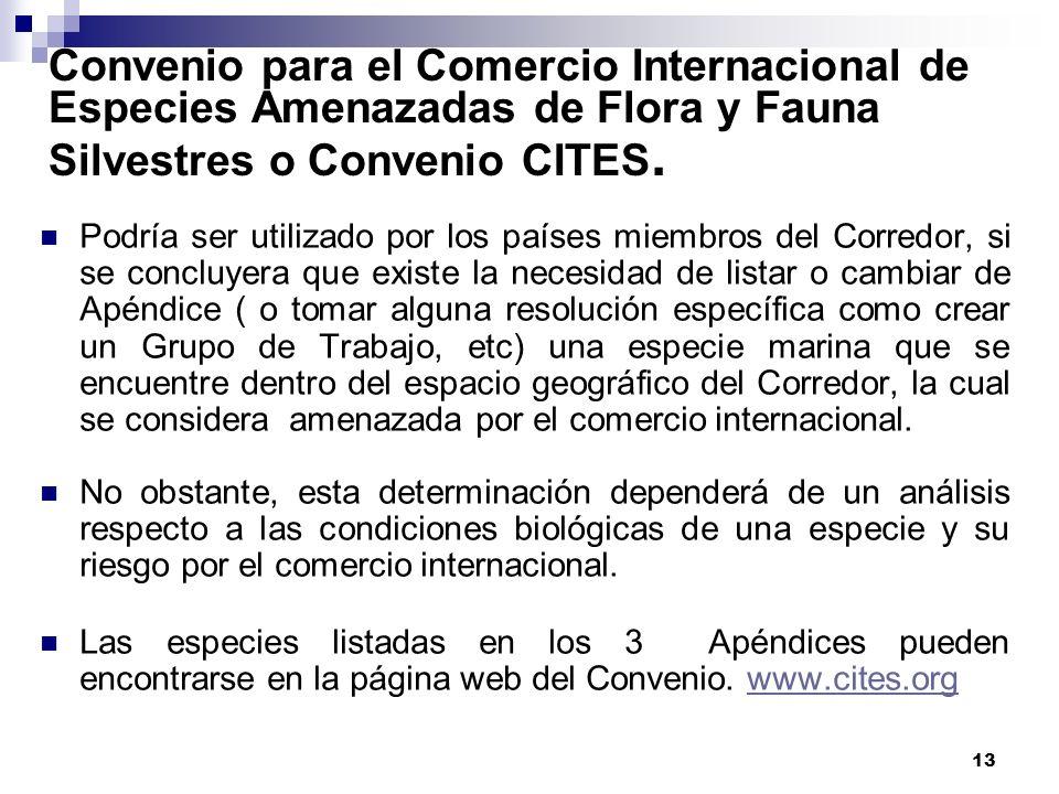 Convenio para el Comercio Internacional de Especies Amenazadas de Flora y Fauna Silvestres o Convenio CITES.