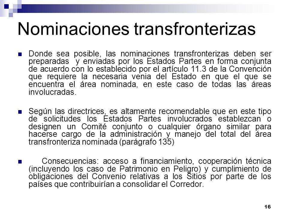 Nominaciones transfronterizas