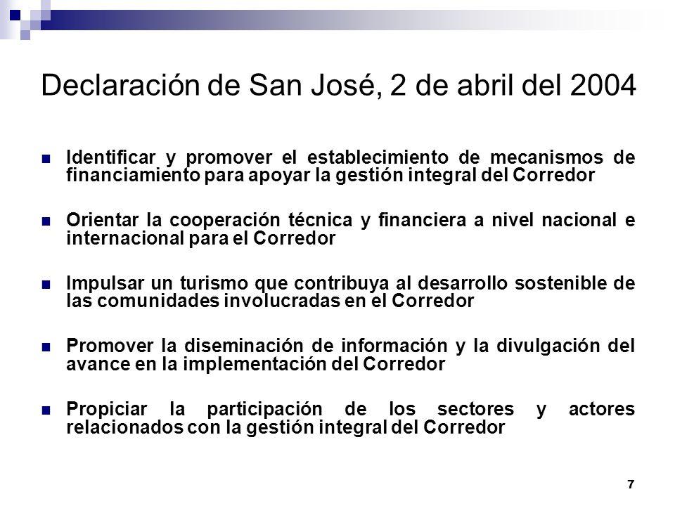 Declaración de San José, 2 de abril del 2004