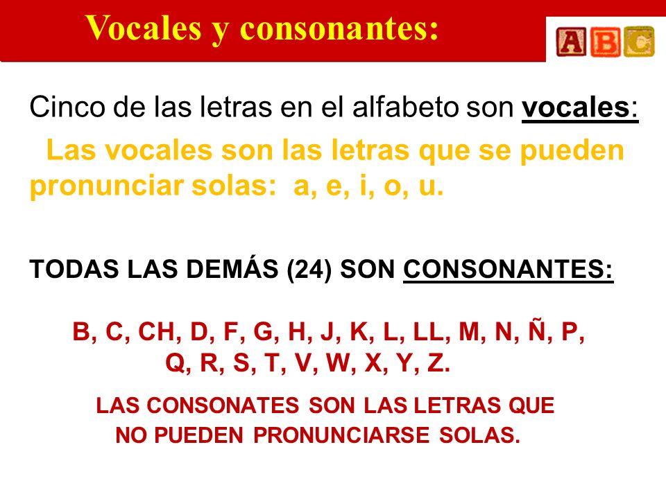 Vocales y consonantes: