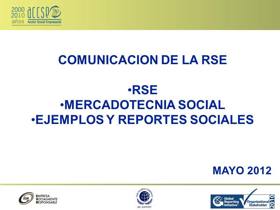 EJEMPLOS Y REPORTES SOCIALES
