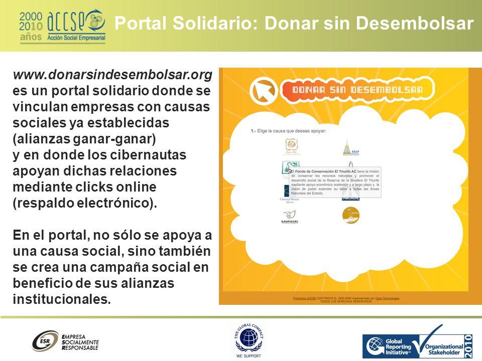 Portal Solidario: Donar sin Desembolsar