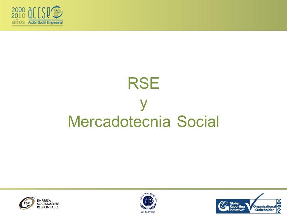 RSE y Mercadotecnia Social
