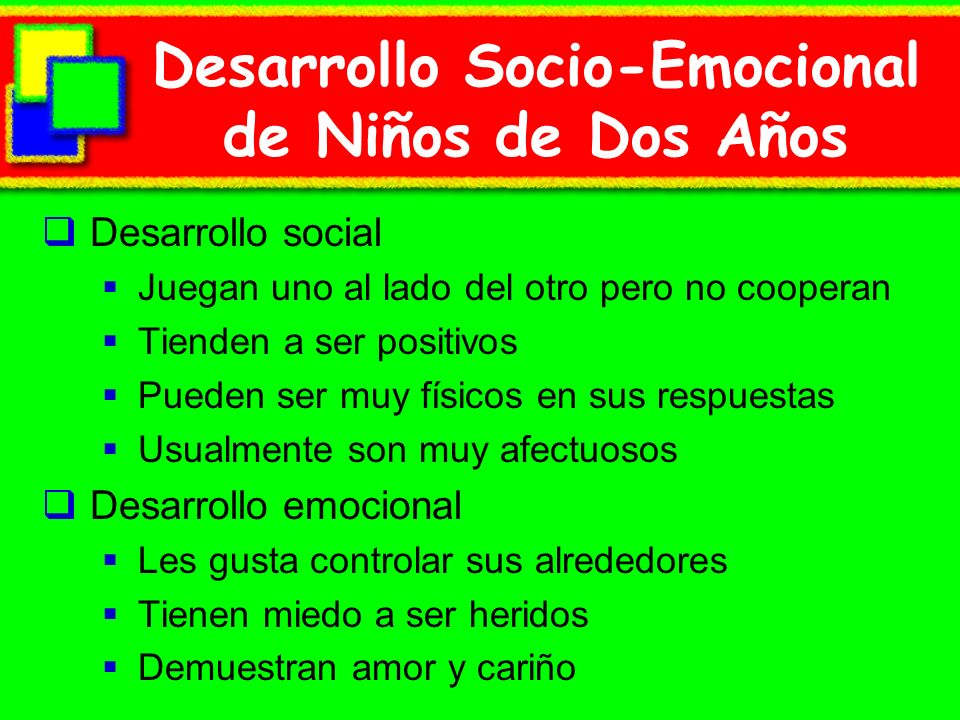 Desarrollo Socio-Emocional de Niños de Dos Años