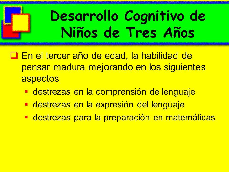 Desarrollo Cognitivo de Niños de Tres Años