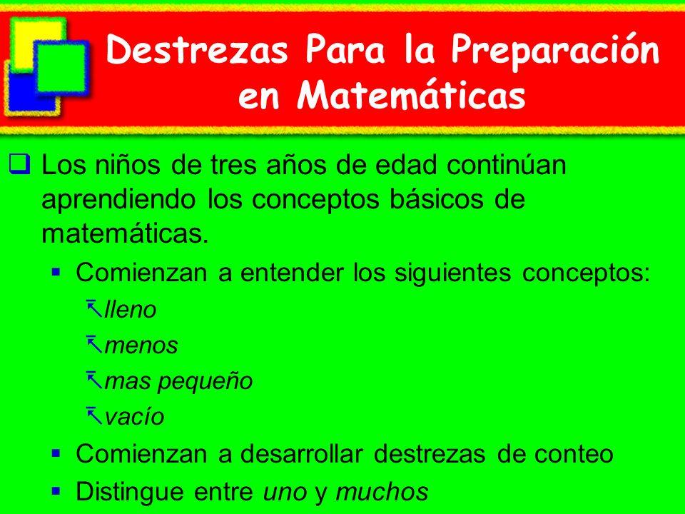 Destrezas Para la Preparación en Matemáticas